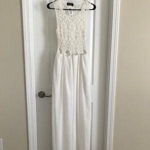 Brand new lace top white dress